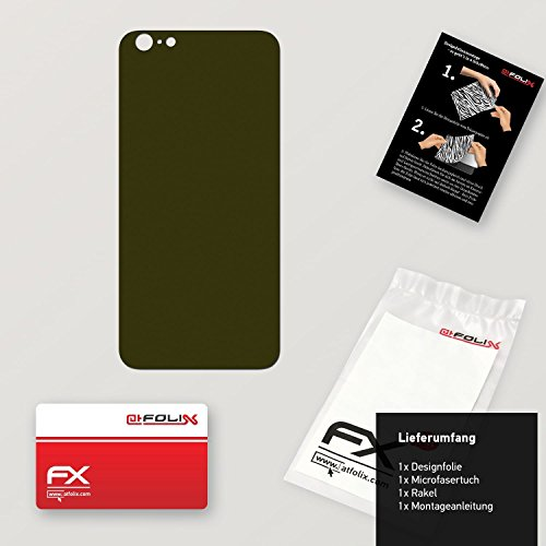 "Skin Apple iPhone 6 Plus ""FX-Carbon-Black"" Designfolie Sticker FX-Soft-Olive"