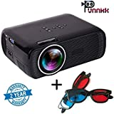 Punnkk P7 Full HD Projector 1800 Lumen 1080P LED LCD Home Theater Projector With Free 3D Glasses/Spectacles