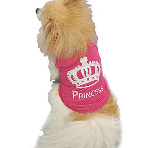 Princess Kostüm Hunde Für - QHorse Wintermäntel Verkleidungen Kapuzenpullover Inception Pro Infinite Kostüm - Verkleidung - Printed - Princess - Prinzessin - Hund (XS) Frühjahr übergang Sommer