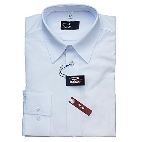 Cordes & Heseler Kinderhemd Slim Langarm, weiß, Gr. 164, 51024/1