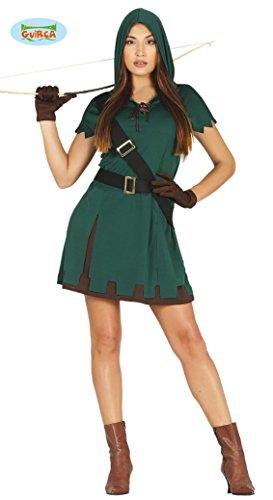 Bogenschütze Kostüm für Damen Karneval Fasching Party Wald Bogen Schütze Gr S-L, Größe:L