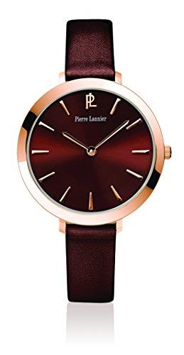 Pierre Lannier - 004D944 - Week-End Basic - Montre Femme - Quartz Analogique - Cadran Marron - Bracelet Cuir Marron