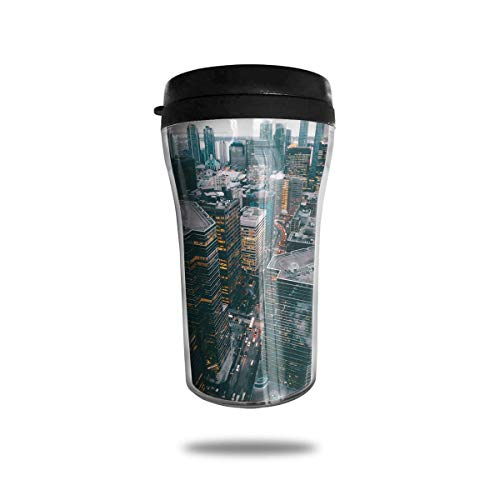 Wärmeisolierung Wasserflaschen New York City Reisekaffeetasse Tumbler mit auslaufsicherem Deckel (City New York Tumbler)