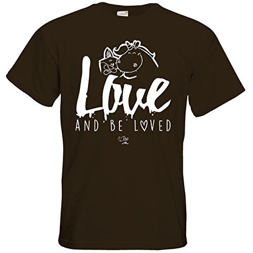 getshirts - Pummeleinhorn - T-Shirt - love and be loved Chocolate