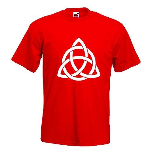 KIWISTAR - Triquetra T-Shirt in 15 verschiedenen Farben - Herren Funshirt bedruckt Design Sprüche Spruch Motive Oberteil Baumwolle Print Größe S M L XL XXL Rot