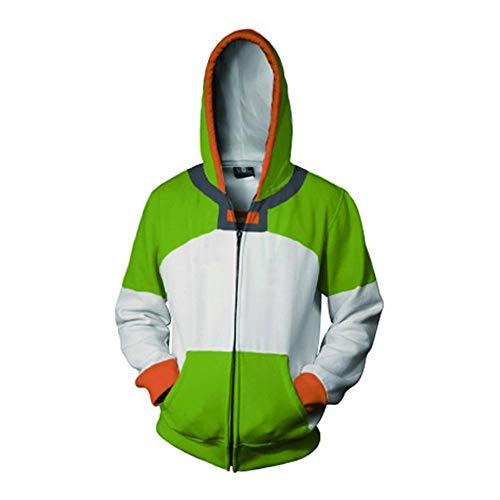 RJHWY 3D Hoodie Sweatshirt Unisex Pullover Kapuzenjacke Kleidung Mantel Reißverschluss Anime Top Voltron S