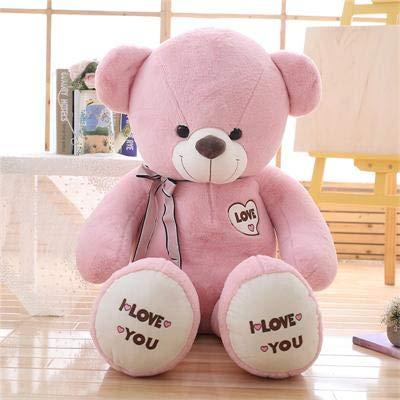 CGDZ 1 stück Große Ich Liebe Dich Teddybär Große Gefüllte Plüschtier Hält Liebe Herz Weiches Geschenk für Valentinstag Geburtstag Mädchen Brinquedos rosa 100 cm