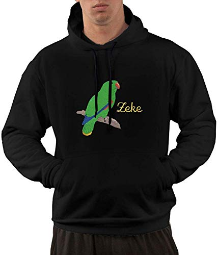 yuhuandadi Mens Parrot Long Sleeve Pullover Hooded Sweatshirt -