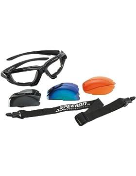 Speeron - Gafas de sol deportivas (incluye cinta para la cabeza y 3 lentes intercambiables)