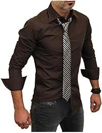 Redbridge Herren Freizeit-Hemd, Einfarbig