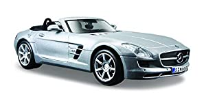 Maisto- Mercedes-Benz SLS AMG Roadster, Color Plata (31272S)