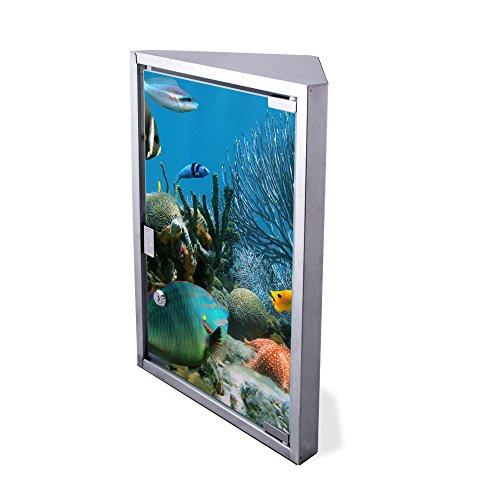 Edelstahl Medizinschrank Eckschrank abschließbar 30x17,5x45cm Badschrank Hausapotheke Arzneischrank Bad Korallenriff 1
