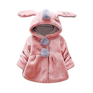 Amlaiworld Abrigos Bebe niñas,Chaqueta con Capucha de Orejas de Conejo de Venonat para niños niñas Bebé Ropa Bebé Otoño… 3