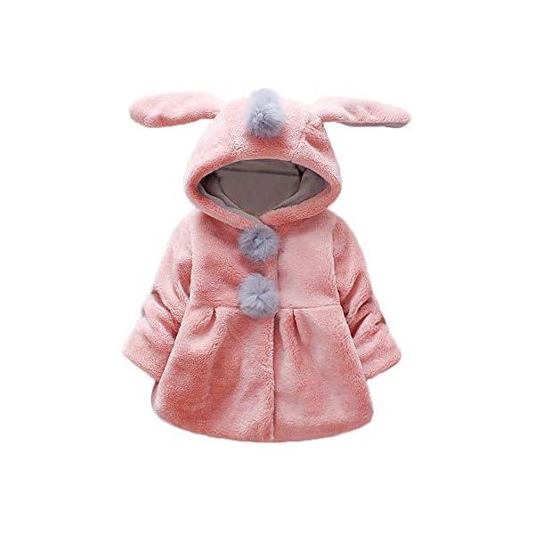 Amlaiworld Abrigos Bebe niñas,Chaqueta con Capucha de Orejas de Conejo de Venonat para niños niñas Bebé Ropa Bebé Otoño… 1