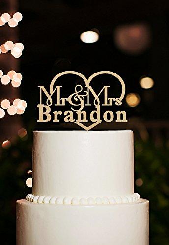 personalisiert Name Herr und Frau Hochzeit Kuchen Topper Rustikal für besondere Anlässe Kuchen Dekorationen