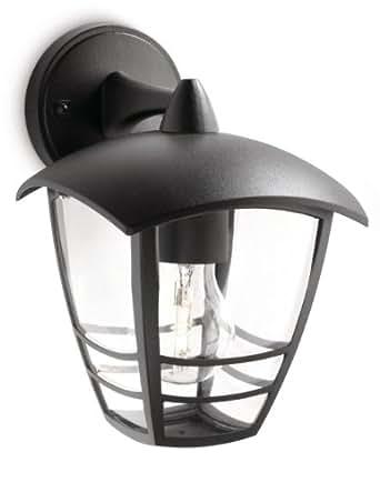 Philips Creek Lampada da Parete da Esterno, Lanterna Down, Alluminio, Nero