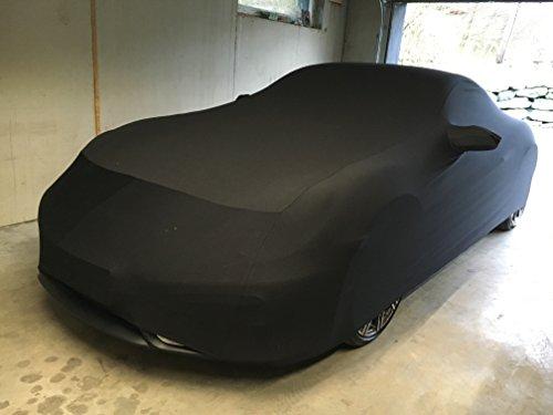 LEDmich Super-Soft Indoor Car Cover Auto Schutz Hülle für Porsche 911/992 / 991/997 Carrera / 996 4s / GTS/Targa/Turbo Abdeckung Stoff schwarz Abdeckplane Schutzhülle