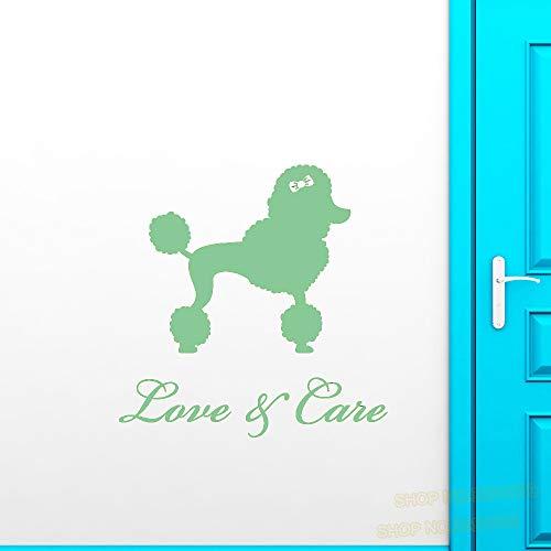 Vinile Adesivo Logo Beauty Grooming Salon Per animali domestici Adesivi Animali domestici Toelettatura Adesivi per finestre a parete rimovibili per soggiorno color-1 42x44cm