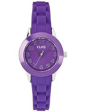 Club Mädchen - Armbanduhr Analog Quarz Silikon Violett A65170S10I