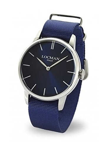 Locman 1960 / orologio donna / quadrante blu / cassa acciaio / cinturino nylon blu