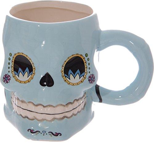 Preisvergleich Produktbild Day of the Dead SUGAR SKULL Mug 50s Totenkopf TASSE Rockabilly