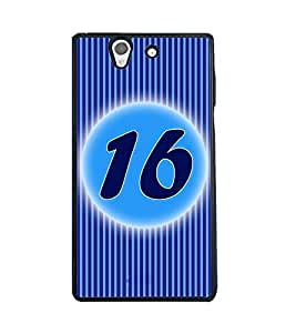 Printvisa 2D Printed Numerology Designer back case cover for Sony Xperia Z - D4234