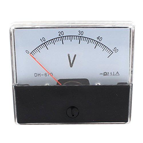 Klasse 2.5 DC 0-50V Analog-Panel Voltage Meter Voltmeter DH-670 50v Analog