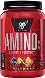 BSN Amino X Verzweigtkettige Aminosäuren (mit Vitamin D, Vitamin B6, Taurin, Alanin und Arginin, BCAA-Pulver von BSN) fruit punch, 70 Portionen, 1kg