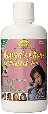 Dynamic Health Noni Juice for Women - Helps with Menopause symptoms - 946ml (Pack of 4)