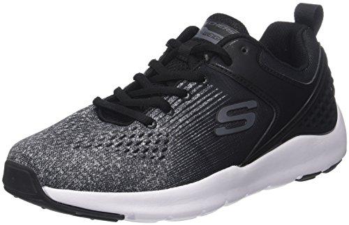 Skechers Herren Nichlas Sneaker Schwarz (Black/Grey)
