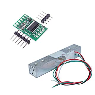 Aihasd Digital Load Cell Weight Sensor 5KG Portable Electronic Kitchen Scale + HX711 Weighing Sensors Ad Module for Arduino