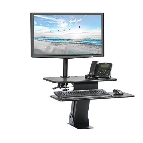 Halfter ssw004-mdm001höhenverstellbar Desktop Sit/Stand, Tischplatte und VESA kompatibel Single Monitor Arm Halterung Bundle