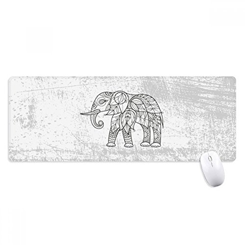 beatChong Malen Elephant Freund Tooth Griffige Mousepad Große Erweiterte Spiel Büro titched Kanten Computer-Mat ()