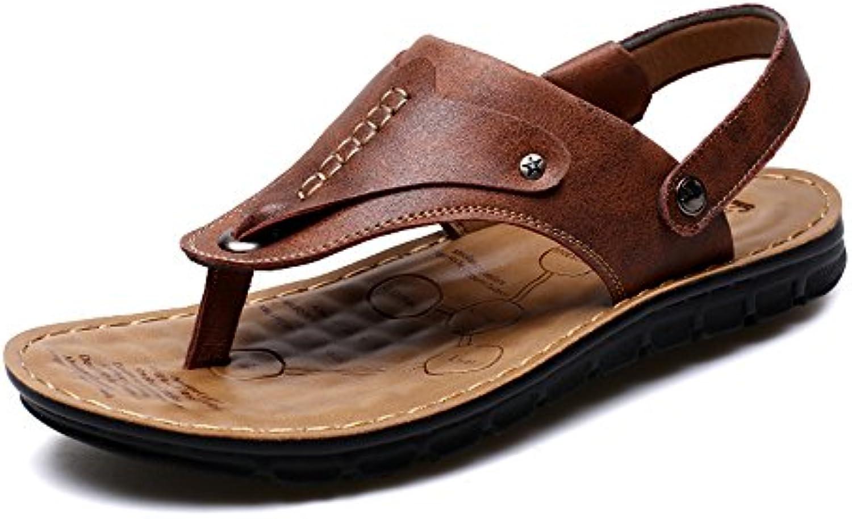 Hausschuhe HUO Sommer Toe Beach Schuhe Persönlichkeit Outdoor Sandalen Atmungsaktive Massage Rutschfeste SchwarzHausschuhe Persönlichkeit Atmungsaktive Rutschfeste absorbieren