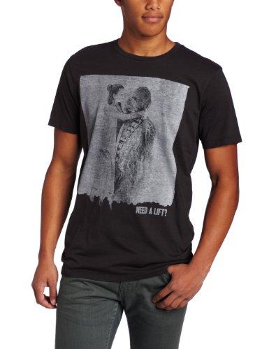Star Wars - Camiseta - Manga corta - opaco - para hombre Azul Lavado Negro X-Large