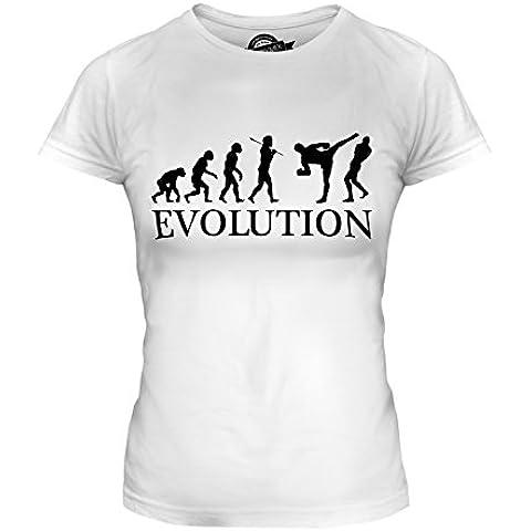 CandyMix Arti Marziali Miste Mma Evoluzione Umana T-Shirt da Donna Maglietta