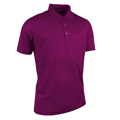 Glenmuir Herren Performance Pique Kurzarm Golf Polo Shirt (L) (Bordeaux) - Performance Pique Polo Golf