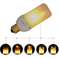 JUNOLUX luce tremolante fiamme LED Flame Light lampadina a risparmio energetico lampada lampadina per interni ed esterni decorazione (Pack of 1)