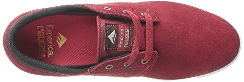 Emerica, Sneaker uomo rosso bordeaux/bianco US Rot