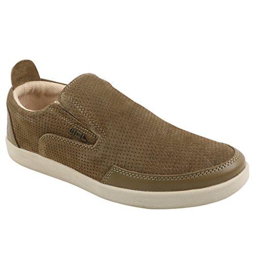 Woodland Men's Khaki Leather Boat Shoes - 6 UK/India (40 EU)  available at amazon for Rs.1817