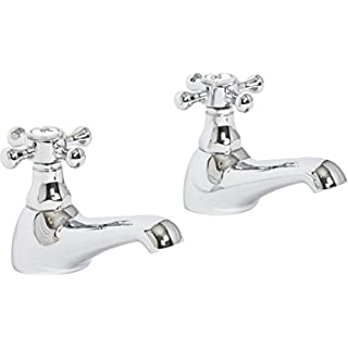 Melrose Traditional Basin Sink Bathroom Taps Chrome High Quality Lifetime Guarantee
