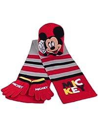 Conjunto bufanda gorro guantes Mickey Disney