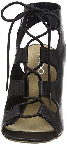 Aldo Janne, Sandales Plateforme femme Noir - Black (Black Leather / 97)
