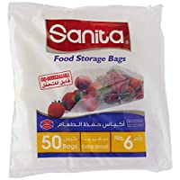Sanita Food Storage Bags 6, 50 Bags, Oxo Biodegradable, Clear