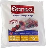 سانيتا اكياس حفظ الطعام رقم 6 ، 50 كيس ، قابل للتحلل