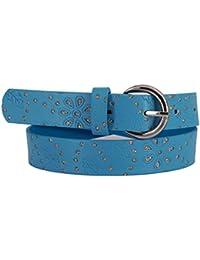EANAGO - Cinturón infantil para niña (guardería y niños primarios, 5-10 años, cadera de 57-72cm), cinturón 65 cm, con piedras brillantes y estampado