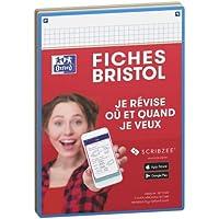 Oxford Révision 2.0 Lot de 50 Fiches bristol format A5 (14, 8 x 21cm) petits carreaux Recto/Verso - Cadre Couleurs…