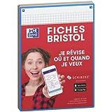 Oxford Révision 2.0 Lot de 50 Fiches bristol format A5 (14, 8 x 21cm) petits carreaux Recto/Verso - Cadre Couleurs Assorties