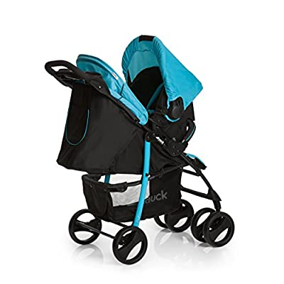Hauck Shopper Shop-n-Drive Set Lightweight Travel System, from Birth, Black/Blue (Car Seat, Foot Muff, Change Bag and Raincover)  Mamas & Papas