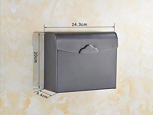 WXFC Volles Kupfer wasserdichtes Toilettenpapier Regal Tissue Box Halter Badezimmer Home Zubehör, 6
